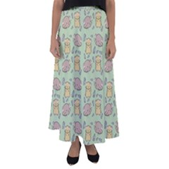 Cute Hamster Pattern Flared Maxi Skirt by BangZart
