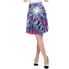 Creative Abstract A Line Skirt