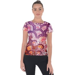 Colorful Art Traditional Batik Pattern Short Sleeve Sports Top
