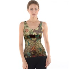 Colorful The Beautiful Of Art Indonesian Batik Pattern Tank Top