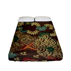 Colorful The Beautiful Of Art Indonesian Batik Pattern Fitted Sheet (full/ Double Size) by BangZart