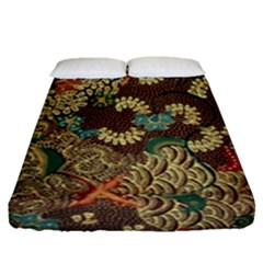 Colorful The Beautiful Of Art Indonesian Batik Pattern Fitted Sheet (queen Size)