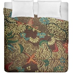 Colorful The Beautiful Of Art Indonesian Batik Pattern Duvet Cover Double Side (king Size)