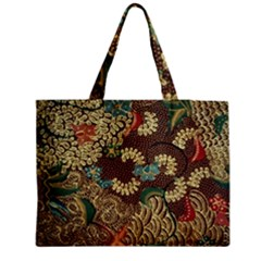 Colorful The Beautiful Of Art Indonesian Batik Pattern Medium Tote Bag by BangZart