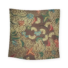 Colorful The Beautiful Of Art Indonesian Batik Pattern Square Tapestry (small)