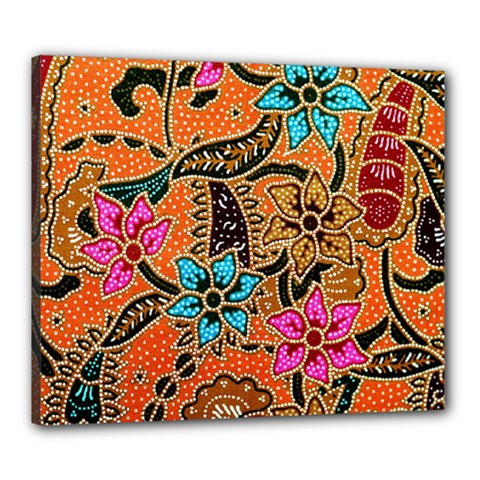 Colorful The Beautiful Of Art Indonesian Batik Pattern(1) Canvas 24  X 20
