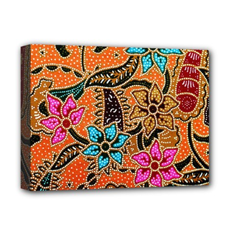 Colorful The Beautiful Of Art Indonesian Batik Pattern(1) Deluxe Canvas 16  X 12   by BangZart