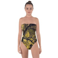 Colorful The Beautiful Of Traditional Art Indonesian Batik Pattern Tie Back One Piece Swimsuit