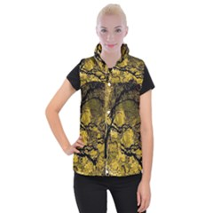 Colorful The Beautiful Of Traditional Art Indonesian Batik Pattern Women s Button Up Puffer Vest