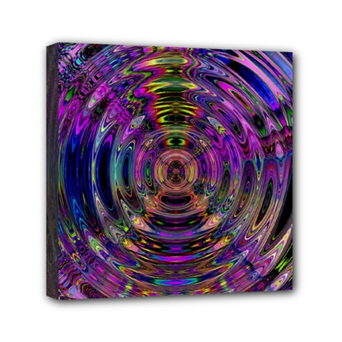 Color In The Round Mini Canvas 6  X 6  by BangZart
