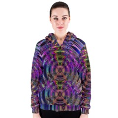 Color In The Round Women s Zipper Hoodie by BangZart