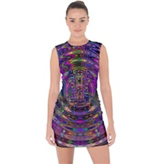 Color In The Round Lace Up Front Bodycon Dress