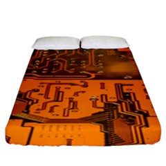 Circuit Board Pattern Fitted Sheet (king Size) by BangZart