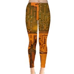 Circuit Board Pattern Classic Winter Leggings by BangZart
