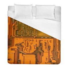 Circuit Board Pattern Duvet Cover (full/ Double Size) by BangZart