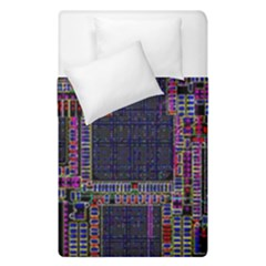 Cad Technology Circuit Board Layout Pattern Duvet Cover Double Side (single Size)
