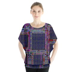 Cad Technology Circuit Board Layout Pattern Blouse by BangZart