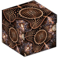 Brown Fractal Balls And Circles Storage Stool 12