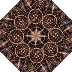 Brown Fractal Balls And Circles Golf Umbrellas by BangZart
