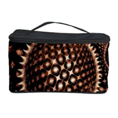 Brown Fractal Balls And Circles Cosmetic Storage Case
