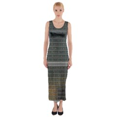 Building Pattern Fitted Maxi Dress