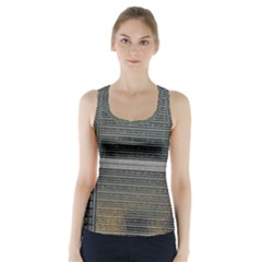 Building Pattern Racer Back Sports Top