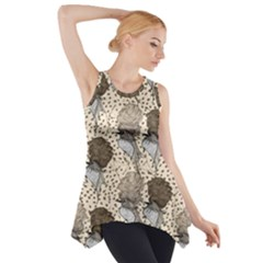 Bouffant Birds Side Drop Tank Tunic