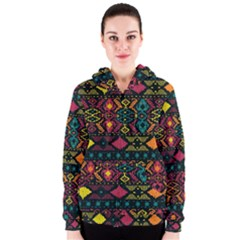 Bohemian Patterns Tribal Women s Zipper Hoodie