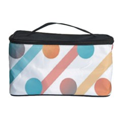 Simple Saturated Pattern Cosmetic Storage Case by linceazul
