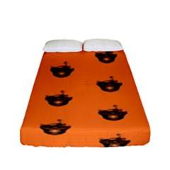 Funny Halloween   Burned Skull Pattern Fitted Sheet (full/ Double Size) by MoreColorsinLife