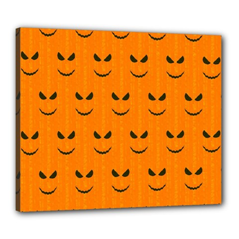Funny Halloween   Face Pattern Canvas 24  X 20  by MoreColorsinLife