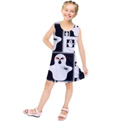 Funny Halloween   Ghost Pattern 2 Kids  Tunic Dress by MoreColorsinLife