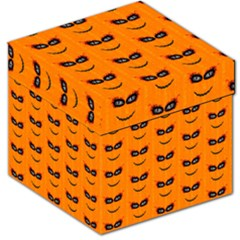 Funny Halloween   Face Pattern 2 Storage Stool 12   by MoreColorsinLife