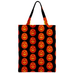 Funny Halloween   Pumpkin Pattern 2 Zipper Classic Tote Bag by MoreColorsinLife