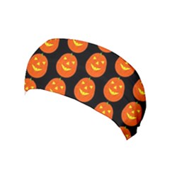 Funny Halloween   Pumpkin Pattern 2 Yoga Headband by MoreColorsinLife