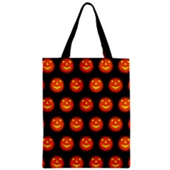 Funny Halloween   Pumpkin Pattern Zipper Classic Tote Bag by MoreColorsinLife