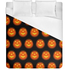 Funny Halloween   Pumpkin Pattern Duvet Cover (california King Size) by MoreColorsinLife