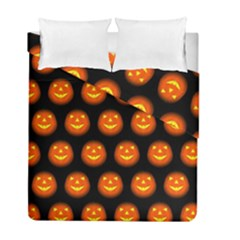 Funny Halloween   Pumpkin Pattern Duvet Cover Double Side (full/ Double Size) by MoreColorsinLife