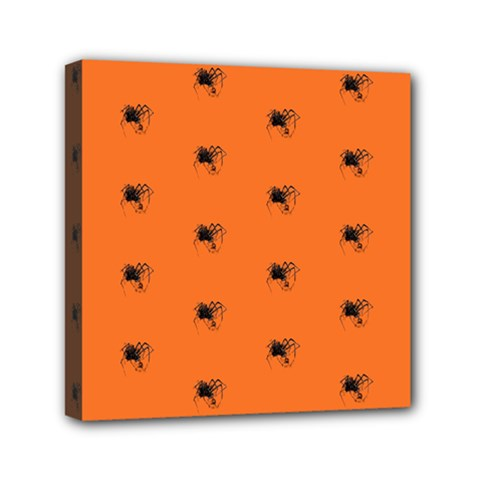 Funny Halloween   Spider Pattern Mini Canvas 6  x 6