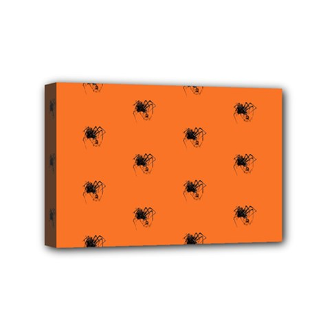 Funny Halloween   Spider Pattern Mini Canvas 6  x 4