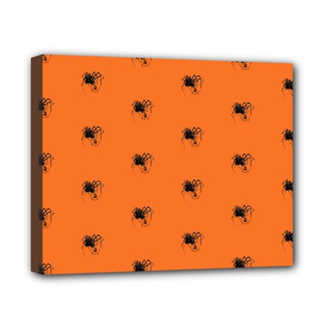 Funny Halloween   Spider Pattern Canvas 10  x 8
