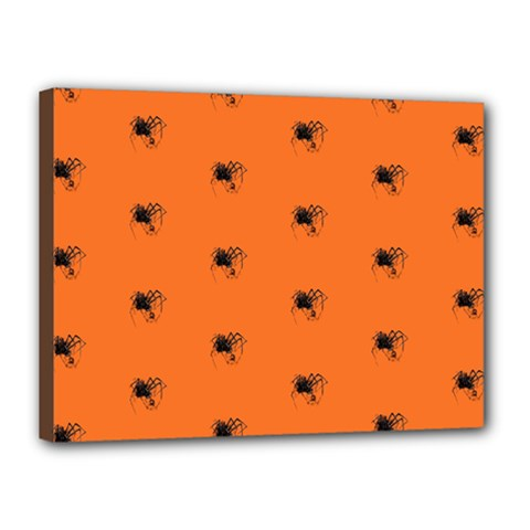 Funny Halloween   Spider Pattern Canvas 16  x 12