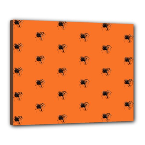 Funny Halloween   Spider Pattern Canvas 20  x 16