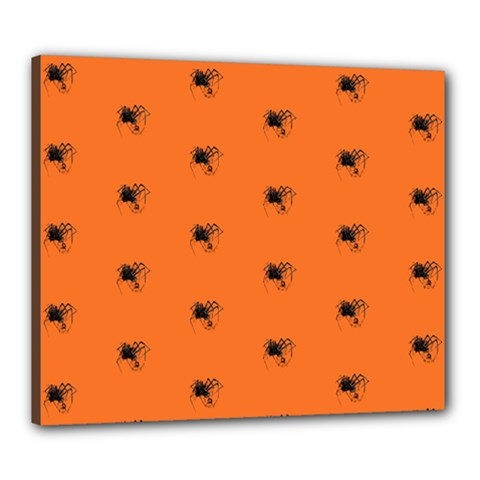 Funny Halloween   Spider Pattern Canvas 24  x 20