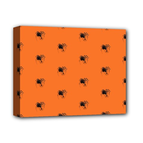 Funny Halloween   Spider Pattern Deluxe Canvas 14  x 11
