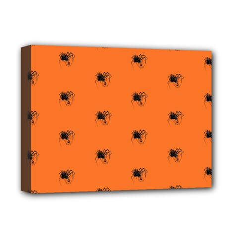 Funny Halloween   Spider Pattern Deluxe Canvas 16  x 12