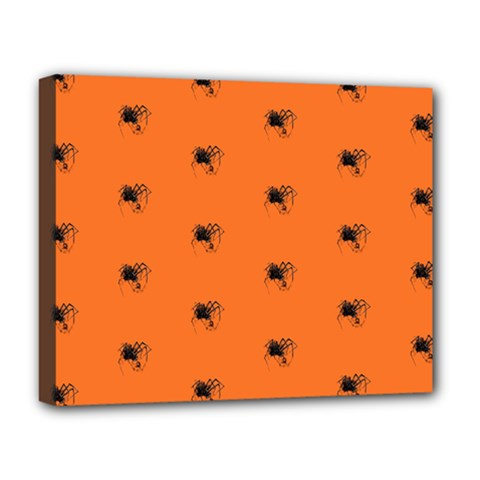 Funny Halloween   Spider Pattern Deluxe Canvas 20  x 16