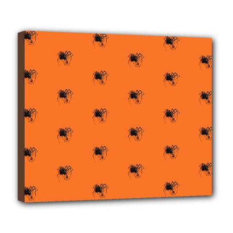 Funny Halloween   Spider Pattern Deluxe Canvas 24  x 20