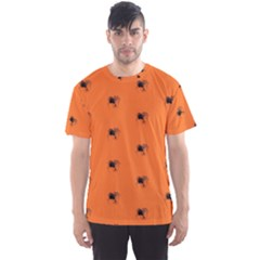 Funny Halloween   Spider Pattern Men s Sports Mesh Tee