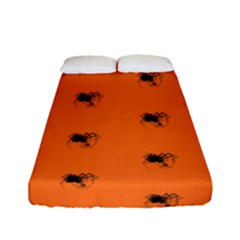Funny Halloween   Spider Pattern Fitted Sheet (Full/ Double Size)